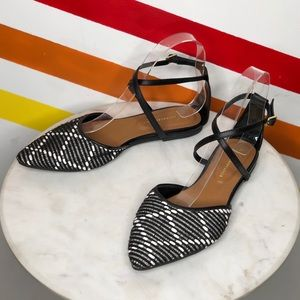 NEW Anthropologie ankle strap flats